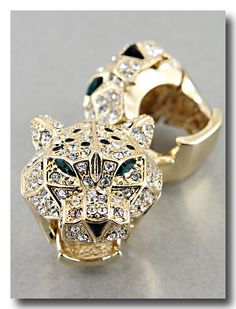 Crystal Tigresa Ring in Gold from P.S. I Love You More Boutique
