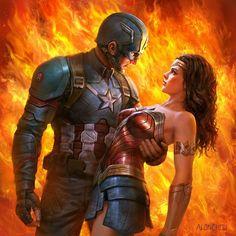 Credit: alonchou1120 Marvel E Dc, Marvel Funny, Marvel Comics, Marvel Heroines, Marvel Avengers, Deadpool, Captain America Art, Superhero Academy, Digital Art Fantasy