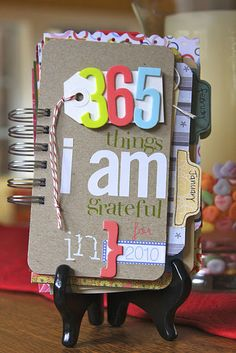 Gratitude journal...I'm definitely going to make one for 2012. It would definitely help make it a more lovely year!
