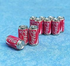 Set 10pcs Coca Cola can Drinks Beverages dollhouse miniatures supply in Dolls & Bears, Dollhouse Miniatures, Food & Groceries | eBay
