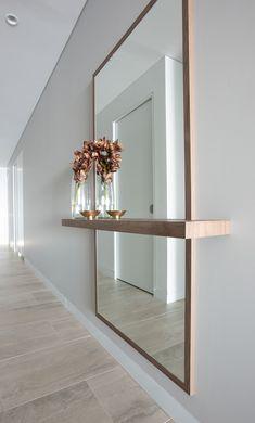 Entrance Decor, Entryway Decor, Foyer, Wall Decor, Hallway Designs, Hallway Ideas, Entry Way Design, Wall Design, Floating Wall