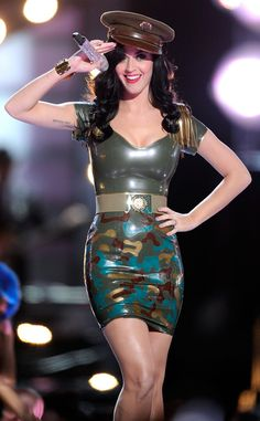 Army of One from Katy Perry's Concert Costumes Just don't call her an army brat.