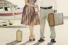 I want to look like I'm from a different time period when I travel someday. Dresses and vintage luggage. Where can I get some of that?