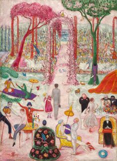 Sunday Afternoon in the Country, 1917 - Florine Stettheimer (American, 1871-1944) - Cleveland Museum of Art