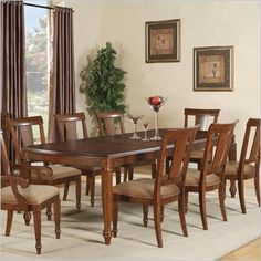 Wynwood Brendon Rectangular Dining Table in Hazelnut and Cabernet - 1950-30