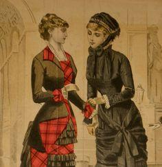 vintage fashion print circa 1881