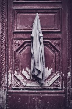 We imagine this to be a room door in an old world hotel in a far flung locale...