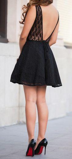#street #style black dress + lace details @wachabuy