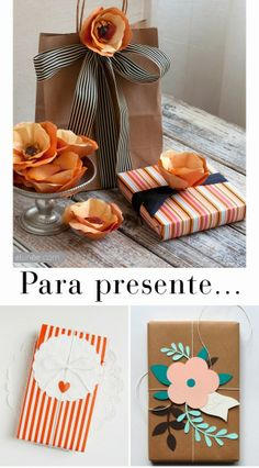 Para presente!!! Bebe'!!! Pretty Fall Colors...love Oranges and Browns!!!