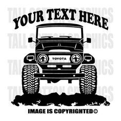 TOYOTA - FJ40 - BJ42 - LAND CRUISER / 1960-1984 4x4 Off road Personalized Vinyl Decal -  #OR019