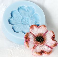 Dogwood Blossom Silicone Mold make Cabochons for by MoldMeShapeMe, $5.00