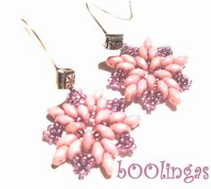Pink Superduo Earrings