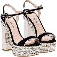 Miu Miu Sandals ($1,800) ❤ liked on Polyvore