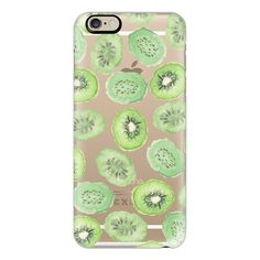 iPhone 6 Plus/6/5/5s/5c Case - Unique green black watercolor kiwi... (155 ILS) ❤ liked on Polyvore featuring accessories, tech accessories, phone cases, phone, iphone case, apple iphone cases, pattern iphone case, print iphone case and iphone cover case