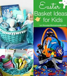Easter Basket Ideas for Kids and Adults! Frozen Easter Basket, Baking Easter Basket, Easter Basket for Men, Easter Basket for Women and more! Pin to your Easter Board! basket ideas for women 30 Themed Easter Basket Ideas - Hoosier Homemade Frozen Easter Basket, Homemade Easter Baskets, Hoppy Easter, Easter Bunny, Easter Eggs, Easter Food, Baskets For Men, Gift Baskets, Easter 2015