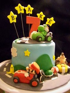Mario Kart Birthday Cake By sj27213 on CakeCentral.com