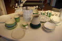 Hanneke Huisman interieurs - vase Matelasse by Kartell, ceramics Brune Céramiques by Serax and vase Bat Trang by Imperfect Design.