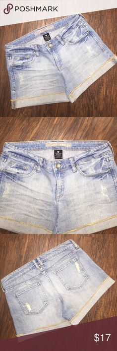 ❌🙀refuge distressed cuffed shorts refuge distressed cuffed shorts ... 98% cotton, 2% spandex. Size 11 juniors refuge Shorts Jean Shorts