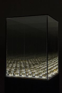 Visual artist Guillaume Lachapelle created a series of light installations for his project 'Visions'. Based in Montréal, the artist works across a variety of media. Infinite Mirror, Cubes, Mirror Box, Glass Installation, 3d Printing Technology, To Infinity And Beyond, Canadian Artists, Light Art, Diy Light