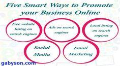 gabyson.com Five smart ways to promote your business online