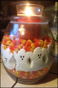 Boo! Peeps plus PartyLite equals Halloween perfection! How cute is this candy corn and marshmallow treat filler inside our Clearly Creative DIY candle holder?! Your favorite seasonal scents and decor can take ceterstage as you show off your creativity with staple pieces that you can style for any season with this versatile collection. Find yours at PartyLite.com