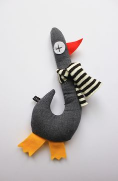 modern scandi ,french style plushie goose or duck soft toy design ,easy to reproduce