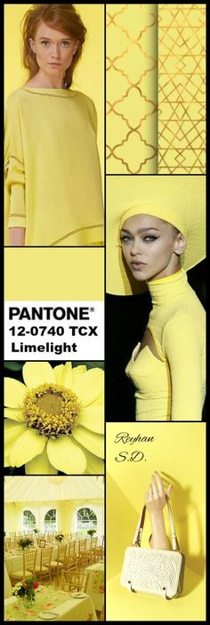 '' Limelight: Pantone Fall/ Winter Colors Trends '' by Reyhan S. Yellow Pantone, Pantone Color, Yellow Co, Color Trends 2018, Color Collage, Fashion Colours, Fall Fashion Trends, Pink Peacock, Summer Colors