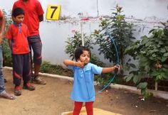 A two-year-old archery prodigy from Vijaywada, India has achieved what many people say is an amazing feat by scoring over 200 points in the five and seven meter distances, according to the India Book of Records.