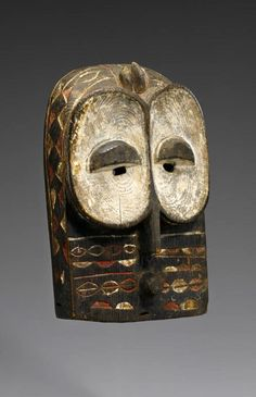Africa | Mask from the Bembe people of DR Congo | Wood, kaolin and pigment