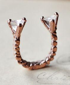 Unearthen Mini Quartz Prism Ring