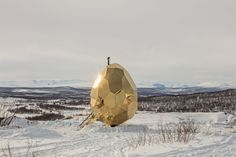 Solar Egg by Bigert & Bergström. Egg-shaped sauna creates escape for residents of Swedish town displaced by mining.