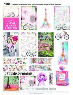 Ohhhhhhh The Paris life :) FREE planner printable