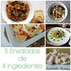 Para estar por casa: 5 Ensaladas con 4 ingredientes