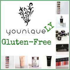 Looking for Gluten Free makeup? We have it! Younique is a brand new line of beautiful and natural cosmetics in the US and Canada offering the best quality products at a reasonable price. We offer all natural, hypoallergenic, fragrance free, gluten free, mineral makeup. There are no carcinogenic chemicals, parabens, talc or other fillers used. Order your's today or host your own virtual party to earn your makeup free  wwww.youniqueproducts.com/naturalash