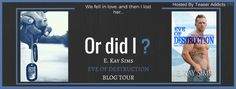 . Eve Of Destruction BLOG TOUR.  Romance Readers New Military Romance With A Little Sci-Fi. ALERT By  New Author E. Kay Sims Eve Of Destruction Is Live NOW ! Enjoy.  Author: E. Kay Sims  Title: Eve Of Destruction  Genre: Military Romance with Sci-Fi elements  Series: The Soldiers of Destruction  Release Date: May 31 2017  Blog Tour Hosted By Teaser Addicts PR  Cover By: Photographer: Shauna Kruse  Cover Designer / Editor: Rebel Edit and Design  AVAILABLE NOW AT THESE RETAILERS:  UNIVERSAL…