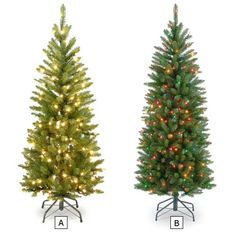 54IN KINGSWOOD FIR PENCIL TREE WITH 150 LIGHTS | Get Organized  #holidaytree #holidaydecor
