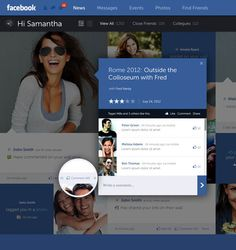 Facebook Web Design and User Interface Concept by Fred Nerby