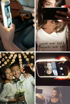 It's a shame you have to use the front-facing camera on your phone for selfies, because that camera doesn't have a flash. When you aren't in well-lighted places, your selfies will be lacking in detail because of the poor lighting. This LED Selfie Phone Case was designed to give you the most flawless selfie ever. Now you can have perfect lighting for selfies and video chat, anytime, anywhere.