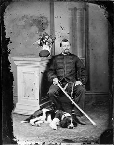 Photograph taken by the studio of William James Harding, Whanganui. Source of descriptive information - Negative register and inscriptions on nega. Williams James, Old Dogs, Dog Portraits, New Zealand, Digger, Studio, Art, Dogs, Art Background