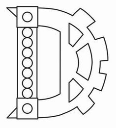 Steampunk Letter D - Uppercase_image Types Of Embroidery, Embroidery Designs, Urban Threads, Graffiti Alphabet, Typography, Lettering, Art Furniture, Transfer Paper, Letters And Numbers