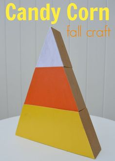 Candy Corn craft for Fall
