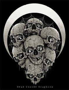 Seven Skulls by DeadInsideGraphics.deviantart.com on @deviantART
