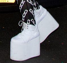 Lady Gaga Heels Platforms | Lady Gaga Continues Her Bizarre Style Streak in the Big Apple