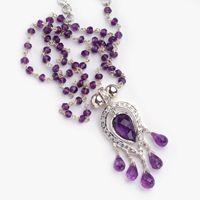 Purple Amethyst, Deep Purple, Stone Jewelry, Silver Necklaces, Heart Shapes, Belly Button Rings, Jewelry Design, Fancy, Detail