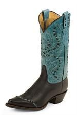 Tony Lama Black / Turquoise Vail Cowgirl Boots  $189.95 headwestoutfitters.com
