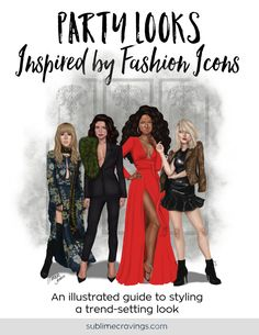 Style Guide: Party Looks Inspired by Fashion Icons Night Club Outfits, Night Out Outfit, Evening Outfits, Party Outfits, Fashion Night, Party Fashion, Club Party Dresses, Party Looks, Girls Night Out