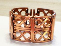 Renoir Bracelet Vintage RENOIR Copper Figure 8 by TheCopperCat