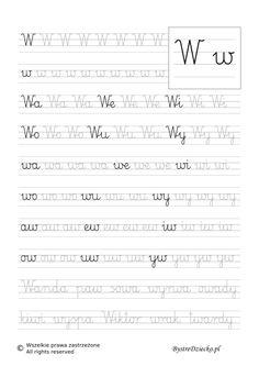 W - nauka pisania sylabami - karty pracy dla dzieci Nursery School, Diy Arts And Crafts, Summer School, Nursery Art, Letters, Education, Books, Google, Speech Language Therapy
