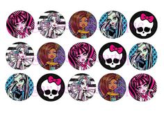 Monster High Bottle Cap Images by SugarBeesBowtique on Etsy, $1.00