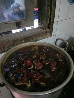 Pewarna batik alami kulit manggis. Daun jambu kulit bawang merah